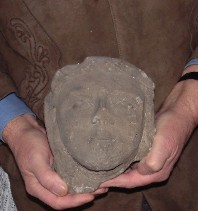 Carved stone head codnor.info
