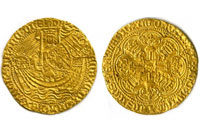 Gold Noble found by Time Team Codnor Castle
